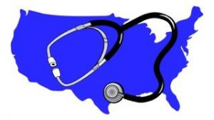 US Map with Stethoscope