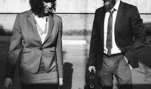business people - man and woman