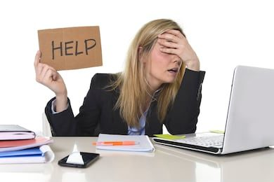 """Frustrated Executive Holding Up a """"Help"""" Sign   Top 3 Executive Search Fails   Talencio"""